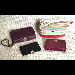 Coach wallets wristlets bundle of 4